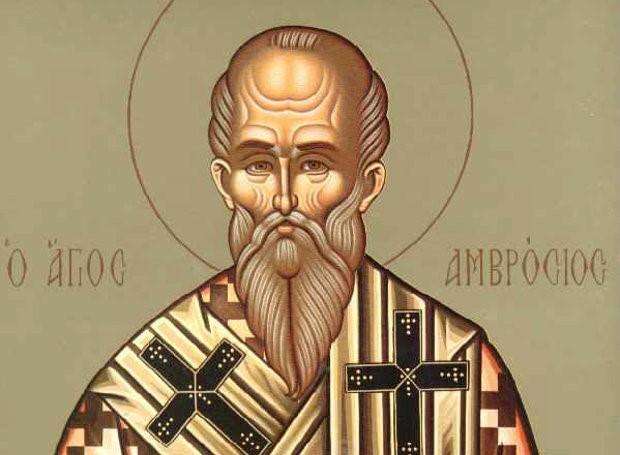 القديس أمبروسيوس أسقف ميلان