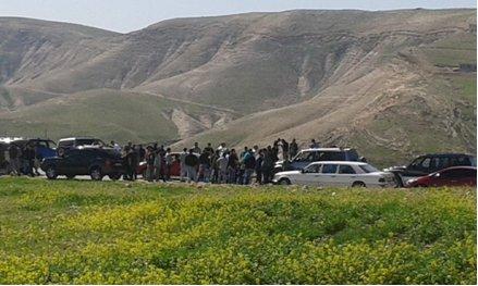 اعتصام ضد دير مارسابا من قبل سكان العبيدية