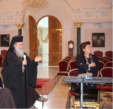 عرض خطة ترميم بناء القبر المقدس على ممثلي الطوائف في القدس.