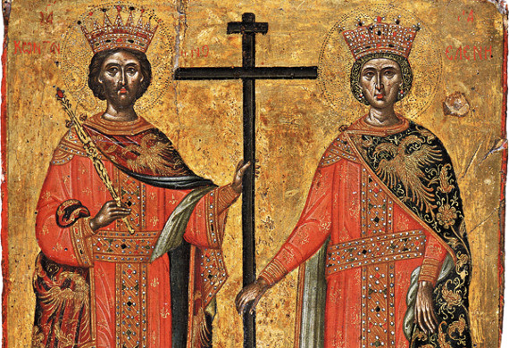 القدّيسان قسطنطين وهيلانة المعادلا الرسل